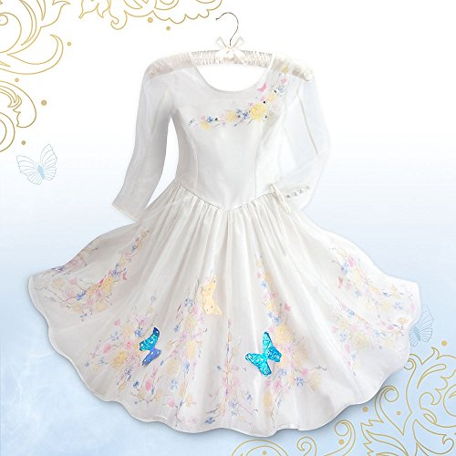 Disney Store Cinderella Live Action Wedding Deluxe Costume Dress Girls 5/6