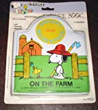 Vintage!-Snoopy-and-Woodstock-On-the-Farm-Vinyl-Squeaker-Book