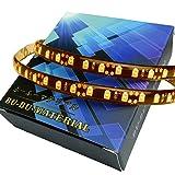 ぶーぶーマテリアル LEDテープ 切り売り 黒基盤 50cm アンバー 橙 防水等級IP65 (LEDの数60球) L51