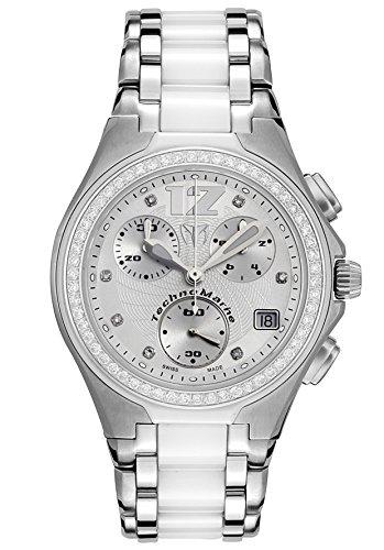 Technomarine Dtmncwc55c Midsize Neo Classic Diamond Chronograph Stainless Steel And White Ceramic Watch (Technomarine Techno Diamond compare prices)