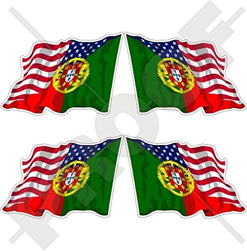 USA United States of America & PORTUGAL American-Portuguese Flying Flag 2