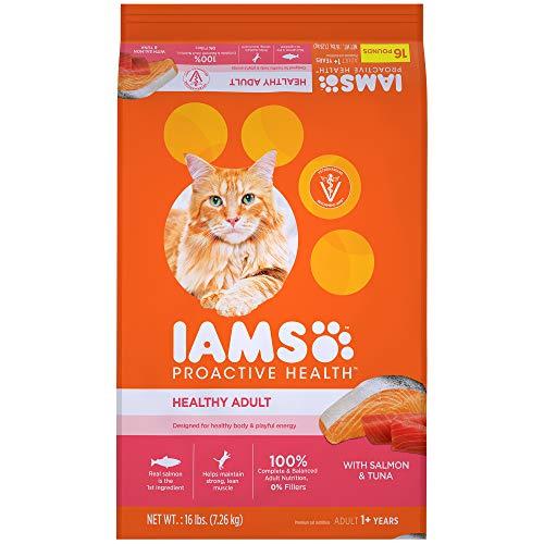 Iams Proactive Health Healthy Adult Dry Cat Food With Salmon And Tuna, 16 Lb. Bag