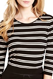 Autograph Striped Military Top [T50-4023-S]