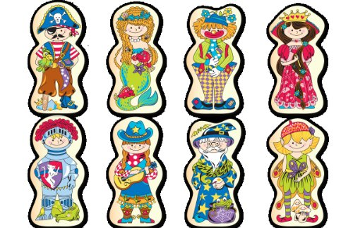 Pierre Belvedere Toy Magnetic Wooden Double-Sided Mix and Match Characters