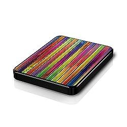 Colorfull Wood Texture Hard Disk Skin By Shopkeeda