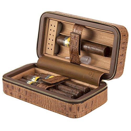 Portable Crocodile Cigar Humidor