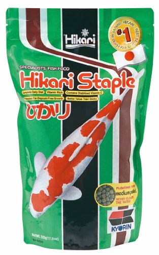 Hikari 17.6-Ounce Staple Floating Pellets For Koi And Pond Fish, Medium