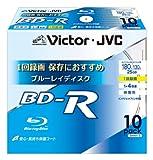 ビクター 映像用ブルーレイディスク 1回録画用 25GB 4倍速 保護コート(ハードコート) ワイドホワイトプリンタブル 10枚 台湾製 BV-R130UW10