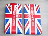 FOR APPLE IPHONE 3GS 3G UK FLAG UNION JACK KEEP CALM CARRY ON TOP FLIP PU LEATHER CASE COVER POUCH