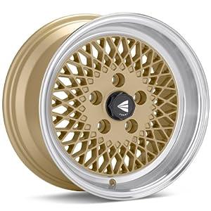 15x8 Enkei ENKEI92 (Gold w/ Machined Lip) Wheels/Rims 4x100 (465-580-4925GG)