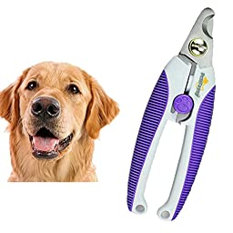 Alkem Pet Nail Clippers Large Dogs High Quality Steel Blades Safety Lock Purple