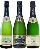 新セット フランス セレクション シャンパン製法 スパークリング白ワイン3本セット 750ml×3本 ランキングお取り寄せ