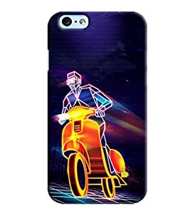 Blue Throat Light Rays Scooter Printed Designer Back Cover/ Case For Apple iPhone 6 Plus