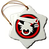 orn_17629_1 Mark Grace SCREAMNJIMMY Hand Tools – DUDE IN TRAINING handsaw black sign 2 – Ornaments – 3 inch Snowflake Porcelain Ornament