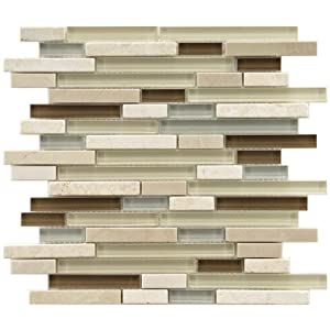 Sierra Piano York 11 3/4 x 11 3/4 Inch Glass and Stone Mosaic Wall Tile (5 Pcs/4.8 Sq. Ft. Per Case, $1 Standard Shipping)
