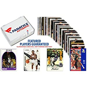 Milwaukee Bucks Team Trading Card Block 50 Card Lot - Mounted Memories Certified
