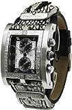 [KEITH VALLER]キース・バリー 腕時計 クロノグラフ スモールセコンド スクエア 革ベルト ホワイト PSC-WH メンズ [並行輸入品]