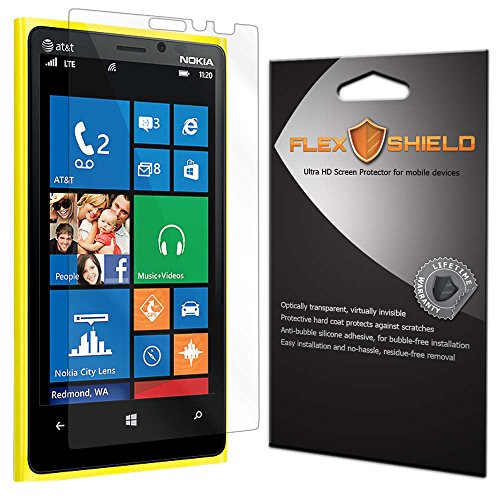 Flex Shield [3-Pack] - Nokia Lumia 920 Screen Protector With Lifetime Replacement Warranty - Ultra Clear Japanese Pet Film - Bubble-Free Hd Clarity With Anti-Fingerprint & Scratch Resistance