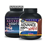 Weight Gainer 3KG Chocolate& ADVANCE 100% WHEY 25gm Protein Per 33gm 1kg Chocolate (Combo Offer)