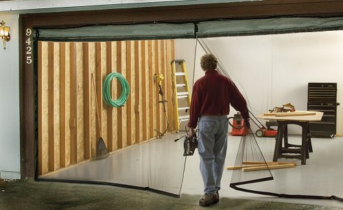 Jobar's JB4869 Garage Screen Door, Black, Double