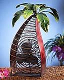 Deco Breeze DBF0376 Cast-Metal 18-Inch 3-Speed Palm-Tree-Shaped Decorative Fan