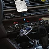 Topop-Bluetooth-FM-Transmitter-USB-Autoladegert-Wireless-Auto-Kit-mit-35-mm-Audio-Anschluss