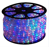 100 FT RGB Color Changing 4-Wire 110V-120V LED Rope light, Christmas Lighting, Indoor / Outdoor rope lighting - CBConcept Brand