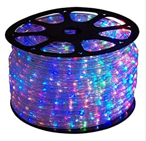 40 ft rgb color changing 4 wire 110v 120v led rope light christmas lighting indoor. Black Bedroom Furniture Sets. Home Design Ideas