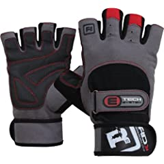 Buy Auth RDX Gel Weight lifting body building gloves Gym Strap training Leather Grpe : Size S by RDX