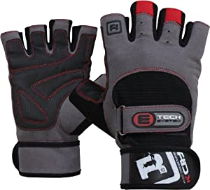 Buy Auth RDX Gel Weight lifting body building gloves Gym Strap training Leather Grpe : Size M by RDX