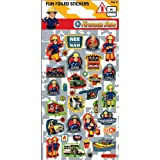 Fireman Sam Pack of 34 Foiled Stickers