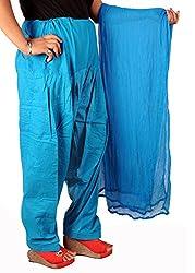Tinnu G Women's Cotton Salwar and Dupatta Set (TGCSD1103_Pink_Free Size)