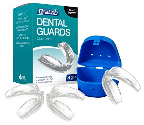 ORALAB Anti Grinding Teeth Custom Moldable Dental Night Guard, Stops Bruxism,TMJ & Eliminates Teeth Clenching. BPA Free! Pack of 3! (Apnea Oral Appliance compare prices)