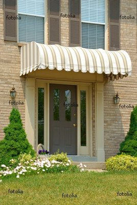 """Wallmonkeys Peel and Stick Wall Decals - Front Door Awning - 36""""H x 24""""W Removable Graphic"""
