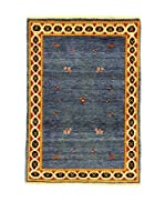 Eden Alfombra Gabbeh Special Azul/Amarillo 103 x 148 cm