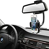 Generic Car Rearview Back Rear Mirror Stand Dock Mount Holder For Nokia Lumia 520/521/822/810