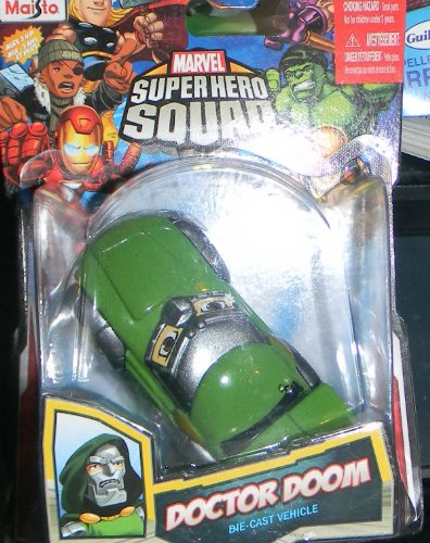 Maisto Marvel Super Hero Squad Doctor Doom Big Eyes Die Cast Vehicle - 1