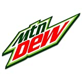 "Mountain Dew pop beverage sign sticker 6"" x 4"""