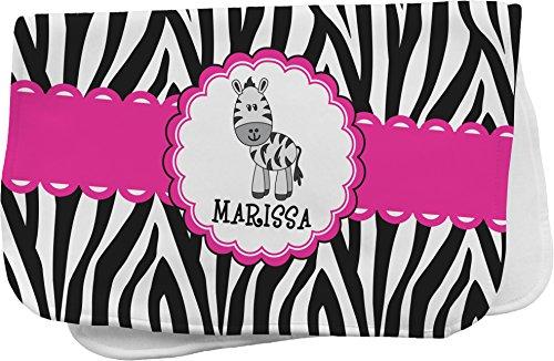 Zebra Personalized Burp Pad front-670472