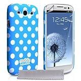 """Samsung Galaxy S3 Tasche Blau Punkte Hart Hybrid H�lle Mit Displayschutz Und Poliertuchvon """"Yousave Accessories�"""""""