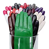 Kursheuel Cashmere Women Lady's Genuine leather driving Gloves 14 colors KU141 by NYC Leather Factory Outlet