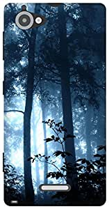The Racoon Lean jungle magic blue hard plastic printed back case / cover for Sony Xperia L