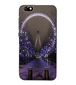 ColourCraft Amazing Giant Wheel Design Back Case Cover for HUAWEI HONOR 4X