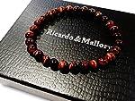 (リカルド&マロリー)Ricardo&Mallory   金運 ・ 仕事運 ・ ギャンブル運 を呼び起こす 最強の パワーストーン 。個性的な赤い虎目が目を惹く 【AAA級】 レッド タイガーアイ ブレスレット 全6サイズ。 (A-4.<腕回り18cm>6mm玉)