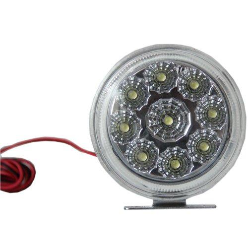 2 X 9 Led Bulb Emergency Vehicle Strobe Lights For Front Round Blue Lamp 3 Mode