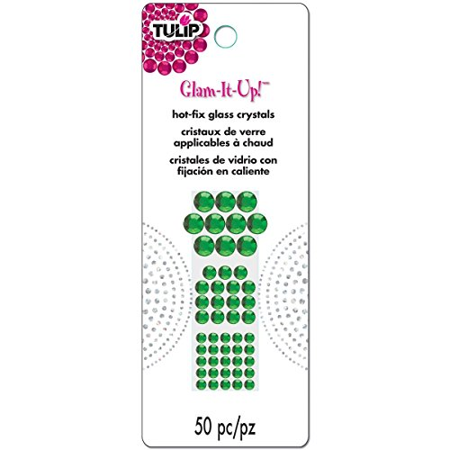 Tulip Glam-It-Up! Hot-Fix Glass Crystals 50/Pkg-Green