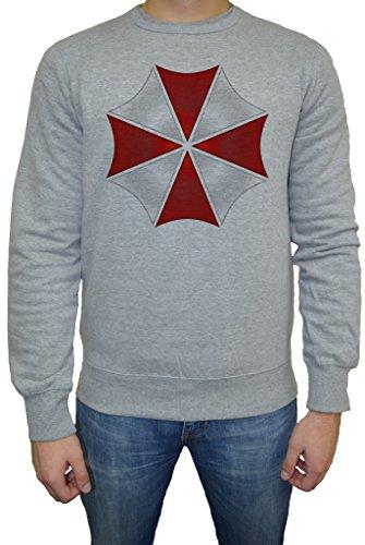 Resident Evill Umbrella Corparation Uomo Felpa Maglione Pullover Grigio Tutti Dimensioni | Men's Sweatshirt Jumper Pullover Grey