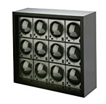 Diplomat 31-403/12 Boxy Ultimate-12 Package Programmed Carbon Fiber Twelve Brick Stacked in Power Extend Station Housing Watch Winder