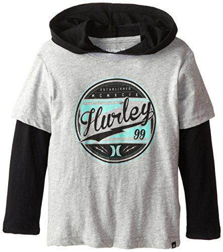 Hurley Little Boys' Class Act Slider, Grey Heather, 7 front-32666