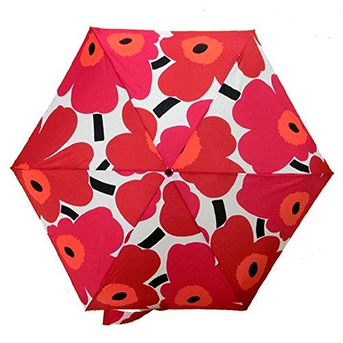 (マリメッコ)marimekko 折りたたみ傘 アンブレラ PIENI UNIKKO ウニッコ ホワイト×レッド 38654-001 [並行輸入品]
